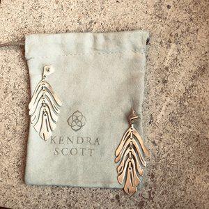 Kendra Scott Luca Statement Earrings - Rose Gold